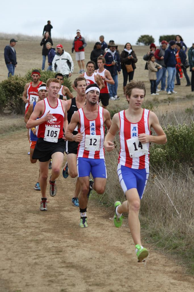 American River College's men's cross-country team captured the second state title in school history on Saturday, Nov. 19 in Woodward Park in Fresno. (Photo courtesy of Rick Anderson)