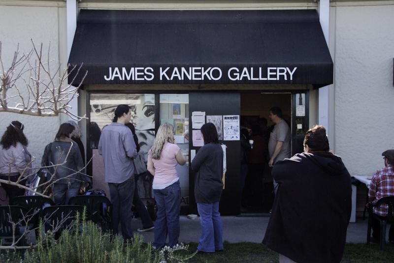 Students and faculty attend an even at the James Koneko Gallery