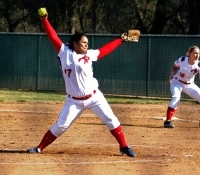 Softball pitcher Jessica Henney is on the mound for the Beavers on Feb. 3.