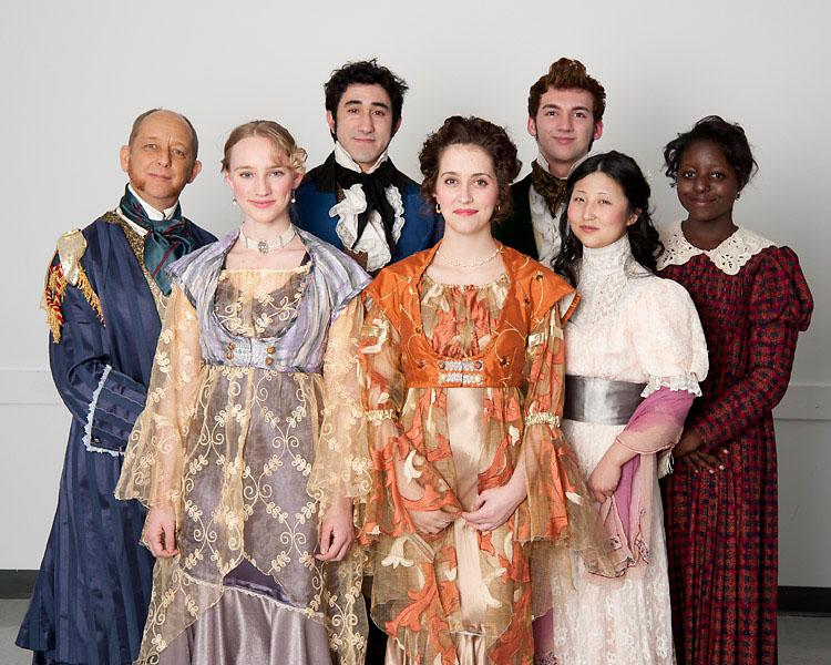 "The actors in ARC's production of ""Pride and Prejudice."""