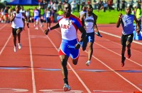 ARC speedster Diondre Batson anchors the 4 x 100 meter relay team for the Beavers on March 3.