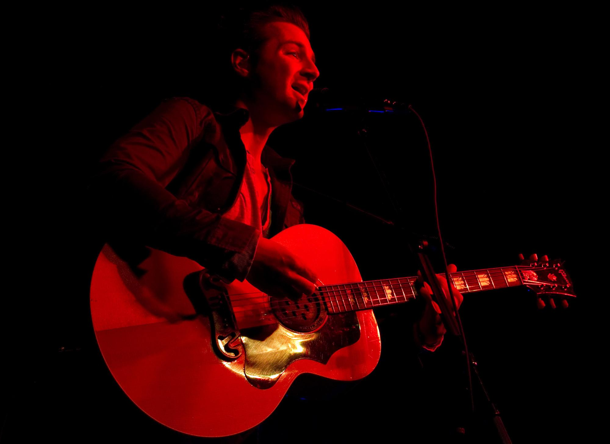 Serenade's John Vesely plays Sacramento's Ace of Spades sans band on March 19.