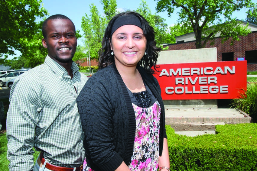 Omba Kipuke, left, and Quierra Robey became the new vice president and president of the ASB at American River College in April. (Photo by Bryce Fraser)