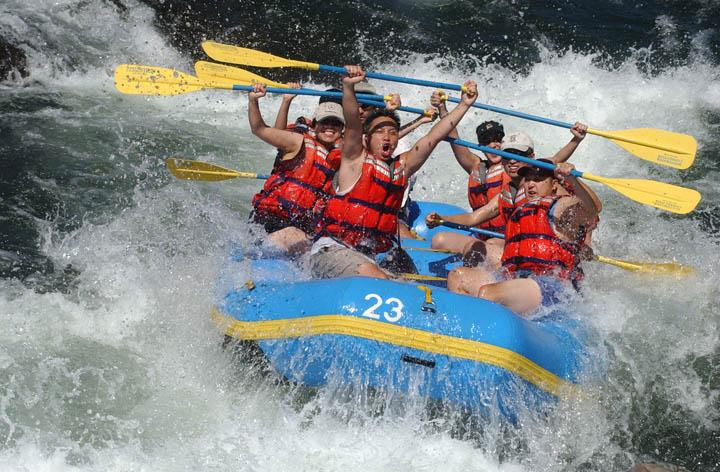 White water rafting down the American River is just one of the things students can do during their Spring Break. American River Rentals starts out at $60 for a four-person raft.