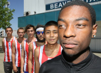 (Front to back): Shawn Simms, Will Reyes, Derek Woodard, Matt Lozancich, Walter Finney, Kenny Andri pose for a photo on April 30 on the American River College Campus.
