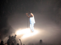 Hip-hop recording artist, Drake, performing in front of an audience of thousands at the Sleep Train Arena in Sacramento on Monday.