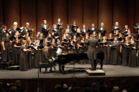 The ARC Concert Choir performed with the Chamber Singers and two local high school choirs at the Fall Choral Invitational Concert on Nov. 5 in the ARC Theatre. The Concert Choir is open to any student who can match pitch.
