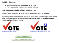 eServices provided an online method for students to vote Nov. 12 and 13