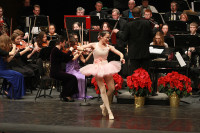 Spiritdancer Donaldson performs the Dance of the Sugar Plum Fairy, accompanied by the ARC Orchestra at the Family Holiday Concert yesterday.