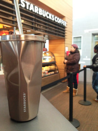 Some ARC students continue to get their favorite cold beverages from Starbucks despite the cold temperatures.