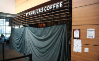 The Starbucks coffee shop on campus  was closed this morning after a small electrical fire was started in one of their coffee machines.