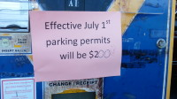 """""""Oh, look, a political statement,"""" said LRPD officer Kathy Church, in reference to a written comment on one of the many pay stations throughout the ARC campus she reset this morning as a result of the district-wide daily parking pass fee increase effective today."""