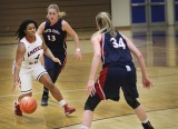 Forward Erica Bossett drives the ball down court during the Jan. 20 game against the Santa Rosa Bear Cubs.