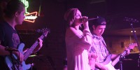 From left Tristan McNay  bass guitar,  Madison Hudson vocalist, Jesse Szabo gu playing Stony Friday night Febuary 13.