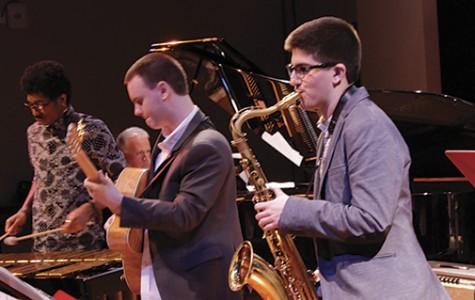 Professor performed alongside multi-award winning collegiate jazz group