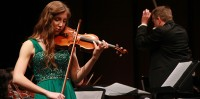 Anna Lyubezhanina on violin performed during the ARC orchestra - coordinated by Steven Thompson last Friday and Saturday night.