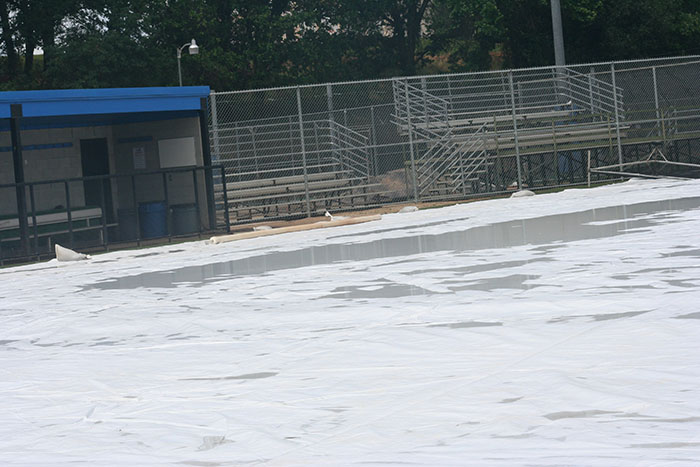 Baseball, softball rained out today, rescheduled for later this week