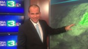 Meteorologist Dirk Verdoorn reports the weather on the weekday morning broadcasts of KCRA-TV news. Verdoorn teaches Geography 306 at ARC this semester. (Photo courtesy of Dirk Verdoorn)
