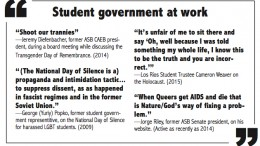 Comments trivializing the deaths of minority groups are not new to American River College's student government (Graphic by Barbara Harvey).