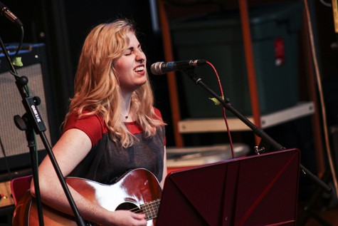 Morgan Wright performs on guitar at the American River College event Acoustic Cafe on Oct. 23, 2015. She began on her performance with a love song, and concluded it with a break up song. (Photo by Joseph Daniels)