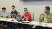 Associated Student Body Student Senate President David Hylton, center right, is able to keep his position on the board after an attempt to recall him last week failed (Photo by Jordan Schauberger).