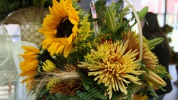 A close up of of one of several arrangements that were offered in a sale hosted by American River College's horticulture department on Thursday. The floral sale was Thanksgiving and fall themed. (Photo by Michael Pacheco)