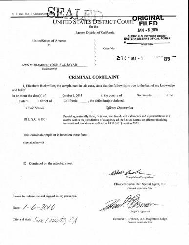 Al-Jayad FBI affidavit