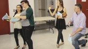 "ARC Students (from right to left) Rhian Harris, Samantha Ara, Ariel Ryan and Josh Hooper practice their improv skills Sunday for auditions for American River College's production of Shakespeare's ""The Tempest. The production will run from April.22 through May.1. (Photo by Tyler M. Jackson)"
