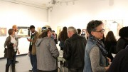 Students attend the Kaneko Gallery reception featuring Jack Ogden and his artwork on Thursday, which is on display at American River College in from Jan. 14 through Feb. 10. (Photo by Timon Barkley)