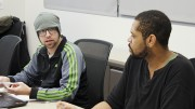 Director of Finance Jeremy Diefenbacher listens while President David Hylton discusses advertisement ideas for the upcoming March in March event, during Student Senate meeting Thursday. (Photo by Jordan Schauberger)