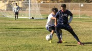 "Hector Zavala playing for ARC's men's soccer team last semester. Head coach Paul Hansen remembered Zavala as a ""passionate player.""(Photo by Joe Padilla)"