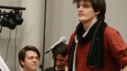 Actor and former ARC student Christian Brian Hirtzel (standing right) rehearsing for ARC's production of Young Frankenstein. The Sacramento District Attorney's office decided today that they will not file a rape charge against Hirtzel. (File photo)