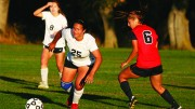 McCall Madriago (right), pictured above challenging a Santa Rosa player in 2014, was selected to the U.S. Women's Deaf National Team in January. (File photo)