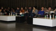 """This year's spring fashion show """"Evoke"""" designers/judges sitting down waiting on their next model to walk down the runway at American River College.(by Allante Morris)"""