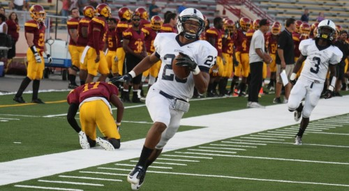 Former American River College running back Devontae Booker is holding a workout in Sacramento for NFL scouts ahead of the April 28 Draft. Booker recorded 1261 yards and 11 touchdowns during his senior season at Utah. (File Photo)