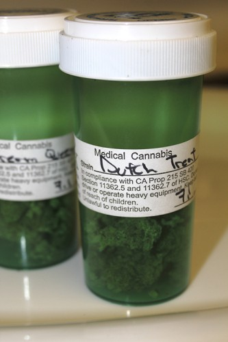 Nick House's prescription, Dutch Treat, is a type of medical marijuana that can be bought at Cloud 9. Cloud 9 is a cannabis dispensary that operates in Sacramento. (Photo by Robert Hansen)