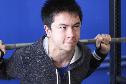 Thomas Phan is a high school student who train at Untamed Strength. (Photo by Bailey Carpenter)
