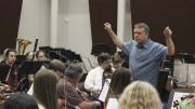 Orchestra Director Steven Thompson conducts the American River College Orchestra. The ARC Orchestra will hold a Star Wars themed concert on May 4. (File Photo)