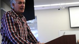 Comedian Jack Gallagher speaks about autism by sharing his experience as a father with a son who has autism to a group of educators in Community Rooms 1-4 at American River College on September 23, 2016. Gallagher's son Liam, who has autism, is 21 and attends Sacramento City College (Photo by Robert Hansen)