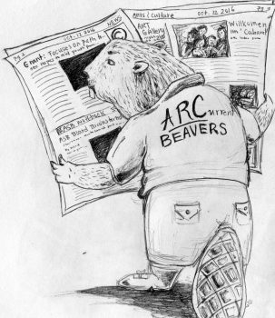 ARC students should take advantage of their campus newspaper which has useful information in it that relates to them. Illustration by Lidiya Grib