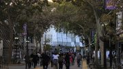 """Fans make their way to """"Fan Fest"""" at the newly opened Golden 1 Center in downtown Sacramento, California on Oct. 1 (Photo by Luis Gael Jimenez)"""