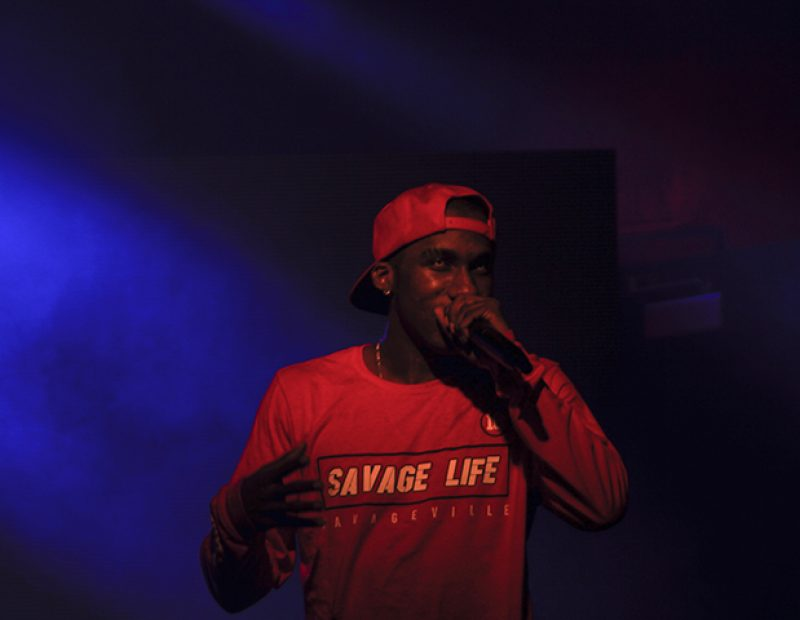 "Hopsin performs at the Ace of Spades in Sacramento, California as part of the ""SavageVille"" tour on Oct. 8 (Photo by Luis Gael Jimenez)"