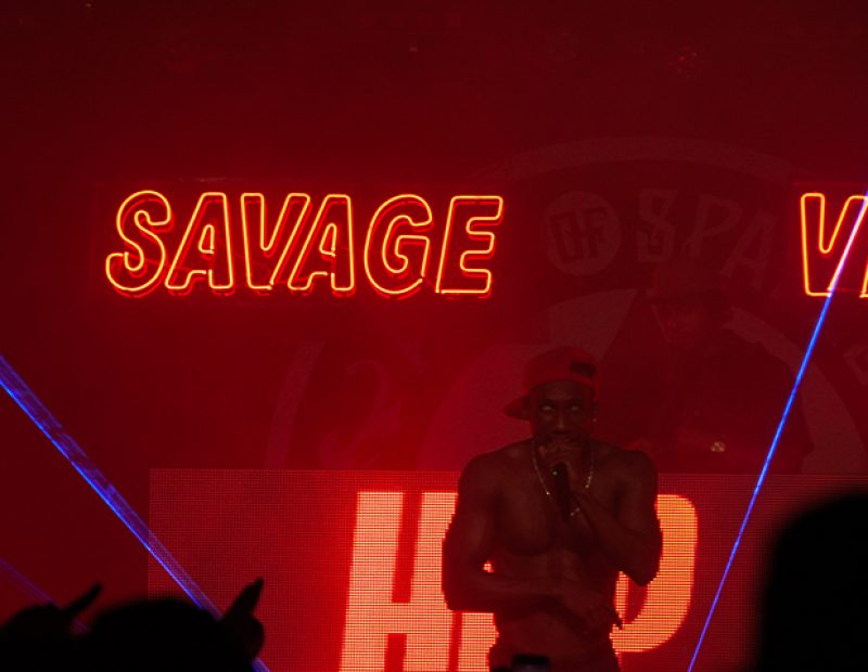 "Rapper Hopsin during a performance in Sacramento, California on Oct. 8 as part of his ""SavageVille"" tour on Oct. 8 (Photo by Luis Gael Jimenez)"