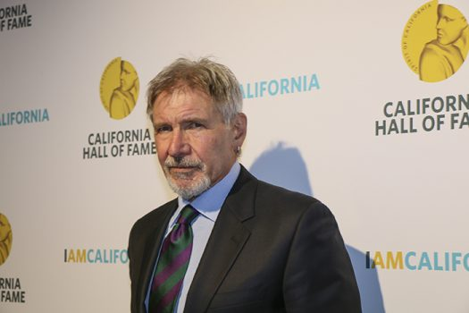"""Actor Harrison Ford was inducted into the California Hall of Fame on the night of Nov. 30, 2016. Ford has starred in movies like """"Indiana Jones"""", """"Star Wars"""", """"Blade Runner"""" and """"Working Girl"""". (Photo by Luis Gael Jimenez)"""