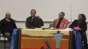 Guest speakers, Adrian Jasper, Muhammad Saifullah, Yusuf Ali, and Parrish Geary speak at Unite: I am Black, I am Muslim on Feb. 9.