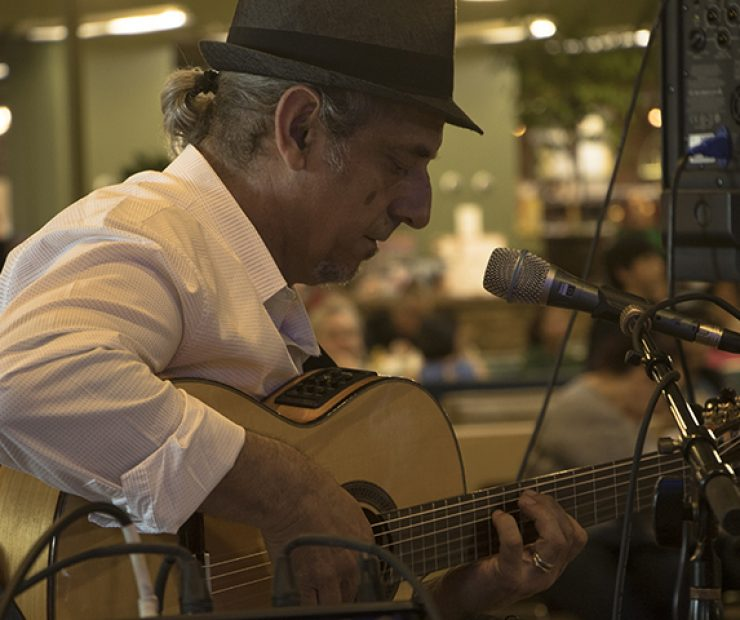 Flamenco guitarist Jose Blanco performs at the Koreana Plaza International Market in Sacramento, California on April 29. Born in Spain, Blanco has been performing music for over 30 years and has had music featured in radio, television and film. (Photo by Luis Gael Jimenez)