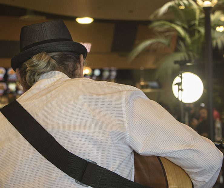 Flamenco guitarist Jose Blanco performs at the Koreana Plaza International Market in Sacramento, California on April 29. Born in Spain, Blanco has been performing music for over 30 years and has had music featured in radio, television and film.