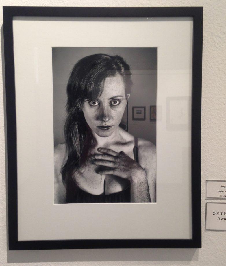 "Inked print ""Megan"" by artist Rene Grajeda, who won the 2017 photo award. (Photo by Lidiya Grib)"