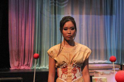 """Fashion design """"Honey"""" created by alumni designer Rebeka Garn. (photo by Lidiya Grib)"""