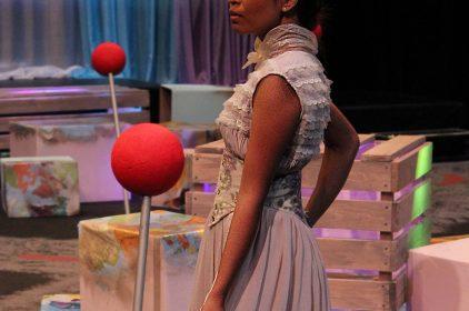 """Fashion design created by Rebeka Garn, """"Honey"""". (photo by Lidiya Grib)"""